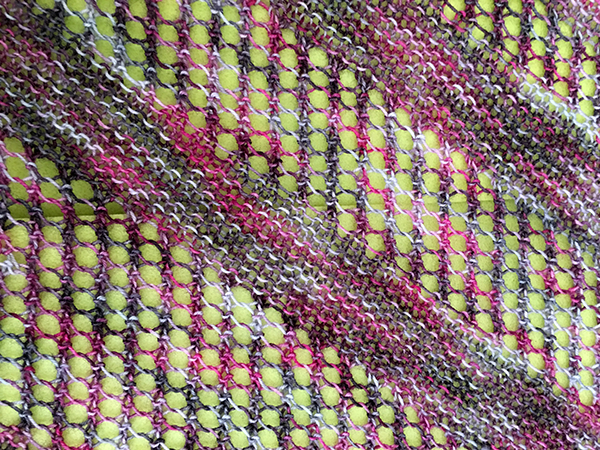 Close up of knitting